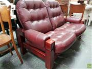 Sale 8593 - Lot 1067 - Leather Upholstered Two Seater Sofa