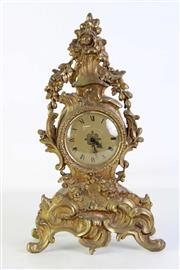 Sale 8913C - Lot 27 - A Gilt Metal French Style Mantle Clock (H 39cm)