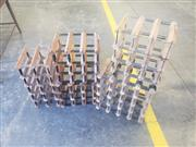 Sale 8951 - Lot 1009 - Collection of Timber and Metal Wine Racks (D:24cm)