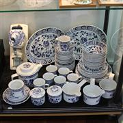 Sale 8231 - Lot 87 - Johnson Brothers Chanticleer Dinner Wares with a Blue & White Wall Mounted Spice Grinder