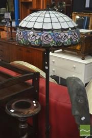 Sale 8312 - Lot 1042 - Leadlight Shade Standard Lamp