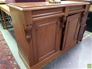 Sale 8559 - Lot 1063 - Colonial Style Cedar Chiffonier, with two frieze drawers & two arched panel doors