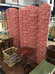 Sale 8782 - Lot 1306 - Vintage Fabric 4 Panel Screen