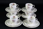 Sale 8894 - Lot 20 - Johnson Brothers Ocean Themed Cups And Saucers For 6 Persons