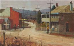 Sale 9096 - Lot 511 - Ric Elliot (1933 - 1995) Road to Richmond oil on board 28.5 x 46 cm (frame: 45 x 63 x 4 cm) signed lower left