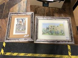 Sale 9163 - Lot 2055 - Pair of watercolours Italian Scenes by Ian Sharp, frame: 27 x 36 cm and 32 x 26 cm, signed lower right