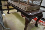 Sale 8161 - Lot 1082 - Timber Coffee Table On Carved Cabriole Legs
