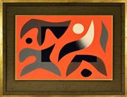 Sale 8401 - Lot 556 - John Coburn (1925 - 2006) - Desert Series 35.5 x 53.5cm