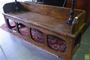 Sale 8532 - Lot 1186 - Massive Chinese Elm or Camphor Three Seater Rustic Bench