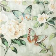 Sale 9070H - Lot 166 - A large butterfly print and mixed media, 80cm x 80cm