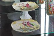 Sale 8014 - Lot 7 - Continental Hand Painted Comport & Plate Set