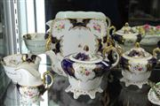 Sale 8032 - Lot 37 - English 5 Piece Hand Painted Tea Service