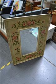Sale 8138 - Lot 943 - Floral Painted Framed Mirror