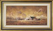 Sale 8325A - Lot 91 - Stewart McKenzie Cullen (1949 - ) - Country Homestead, 1971 29 x 59.5cm
