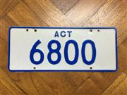 Sale 8359A - Lot 9 - Right to display the ACT numerical plate  6800