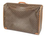 Sale 9003F - Lot 36 - A Louis Vuitton, Paris custom monogram canvas suitcase with front closed end zip and soft shell, made in the USA, #SD0998, H 58 x W...