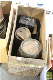 Sale 8478 - Lot 2217 - Wooden Snow Flake Crate with Kegs, etc