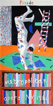 Sale 8565 - Lot 519 - David Hockney (1937 - ) - Metropolitan Opera, NY 1981 202.5 x 101.5cm