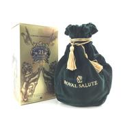 Sale 8687 - Lot 890 - 1x Chivas Brothers 21YO Royal Salute Blended Scotch Whisky - The Emerald Flagon in felt bag, in box