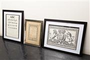 Sale 8761A - Lot 82 - Three framed works on paper including royal crest, eye chart and trinity music college certificate