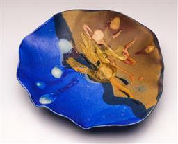 Sale 9119 - Lot 83 - A Contemporary pottery plate, signed to back (Dia 30cm)