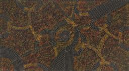 Sale 9188A - Lot 5030 - GRACIE MORTON PWERLE (C1956 - ) - Women's Travelling Tracks 110 x 200 cm (stretched and ready to hang)