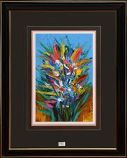 Sale 8098A - Lot 53 - Pro Hart - Burst Of Spring, acrylic, 38cm x 33cm, signed lower right
