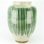 Sale 8304A - Lot 2 - Large Contemporary Shino Glaze Pottery Vase (hairline to rim) (height & diameter - 56 x 40cm)