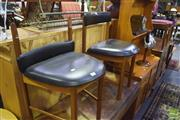 Sale 8338 - Lot 1610 - Pair of McIntosh Teak Dining Chairs