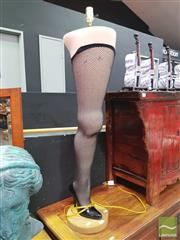 Sale 8447 - Lot 1009 - Thigh High Standard Lamp
