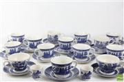 Sale 8486 - Lot 59 - Blue And White Coffee/Tea Service