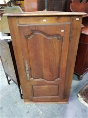 Sale 8653 - Lot 1046 - 19th Century French Cherrywood Corner Cabinet, with single shaped panel door (key in office)