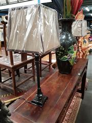 Sale 8700 - Lot 1063A - Pair of Tall Brown Metal Table Lamps