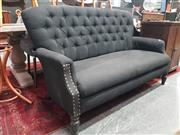 Sale 8863 - Lot 1032 - Upholstered Buttoned Back Two Seater Lounge