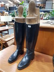 Sale 8908 - Lot 1027 - Pair of Leather Riding Boots with Trees