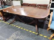 Sale 8988 - Lot 1028 - Regency Style Extension Dining Table with Single Leaf (H: 75 x L:183 x W: 97cm)
