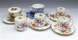 Sale 9093P - Lot 66 - Shelley Cups and Plates Glorious Devon, Heather and Royal Crown Derby Posie Wares