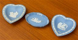 Sale 9164H - Lot 66 - Three pieces of Wedgwood jasperware pin dishes