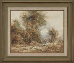 Sale 9163 - Lot 2034 - Anita Newman Day Dreaming oil on canvas board, 60 x 70cm (frame) signed lower left -
