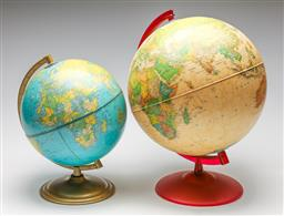 Sale 9253 - Lot 144 - A globe on stand (H:40cm) and another (H:31cm)