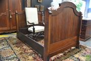 Sale 8282 - Lot 1072 - 19th Century French Walnut & Ebonised Day Bed, the faceted supports with burr veneer