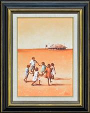 Sale 8325A - Lot 18 - Peter Moller (1948 - ) - Untitled, 1972 (Children Playing) 34 x 24cm