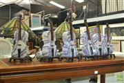 Sale 8440 - Lot 1083 - Set of 6 Cello Form Table Lamps