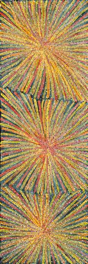 Sale 8558 - Lot 583 - Luck Morton Kngwarreye (c1952 - ) - Untitled 90 x 30.5cm (stretched & ready to hang)