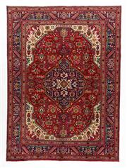 Sale 8770C - Lot 40 - A Persian Tabriz Wool And Silk Inlaid Pile, 340 x 250cm