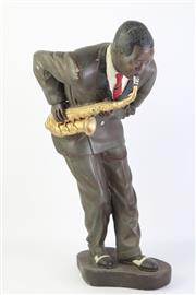 Sale 8783 - Lot 9 - Jazz Musician Figure Possibly Louis Armstrong (AF) H: 47cm