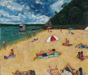 Sale 8975A - Lot 5002 - Stanley Perl (1942 - ) - A Day At The Beach 51 x 61.5 cm (total: 51 x 61.5 x 4 cm)