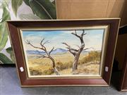 Sale 8998 - Lot 2078 - Julie Mozsny - The Dancing Ghost Trees, Oil, SLR, 24.5x37cm