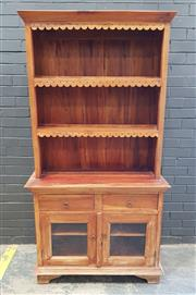 Sale 9009 - Lot 1007 - Timber Kitchen Hutch With Two Drawers & Doors (H193 x W101 x D47cm)