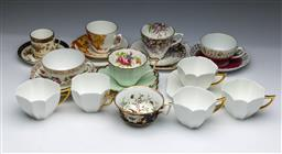 Sale 9093P - Lot 67 - Various Cup Trios Including Minton, Dresden and Shelley Cups